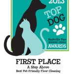 2013 Award for Best Pet Friendly Flooring Cleaning to A Step Above from Nashvillepaw.com