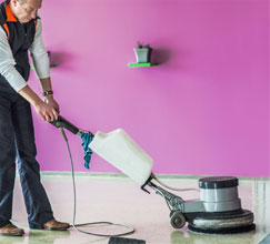 A Step Above team member providing Commercial Floor Cleaning & Care